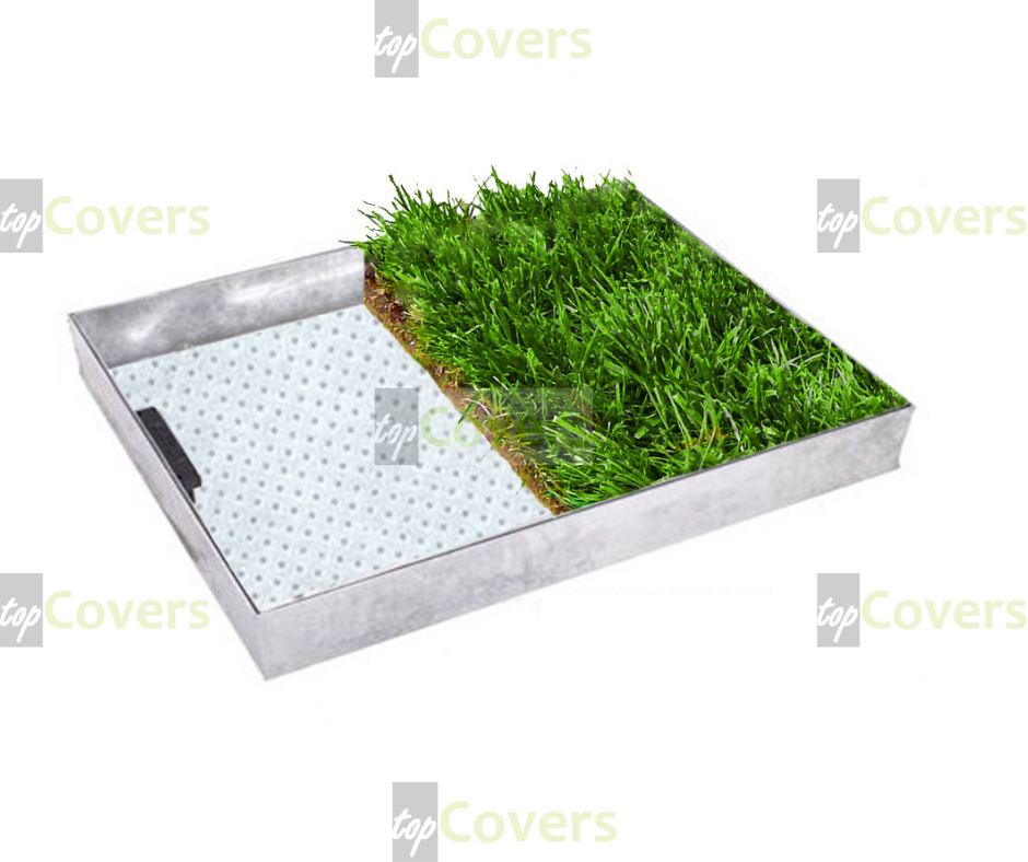 GALVANIZED STEEL GRASS TOP COVERS